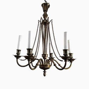 Brass and Bronze Chandelier, 1940s