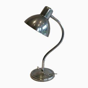 Lámpara de escritorio de cromo, años 60