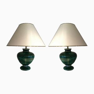 Ceramic Table Lamps, 1970s, Set of 2