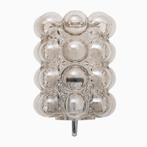 Bubble Glass and Chrome Wall Sconce by Helena Tynell for Limburg, 1960s