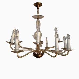 Lámpara de araña de vidrio, años 60