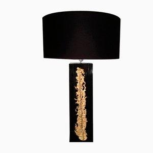 Lámpara de mesa con detalle de bronce, años 60