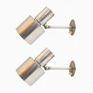 Wall Sconces by Halldor Gunnløgsson for Louis Poulsen, 1960s, Set of 2