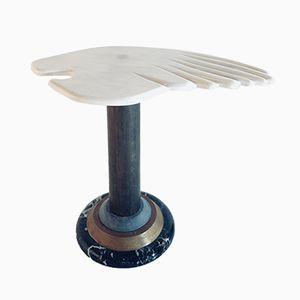 Table Basse Vintage avec Socle en Marbre