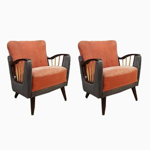 Mid-Century Modern French Lounge Chairs, 1950s, Set of 2