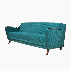 Sofá cama Mid-Century turquesa, años 60