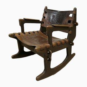 Sedia a dondolo vintage di Angel I. Pazmino per Muebles de Estilo, Ecuador