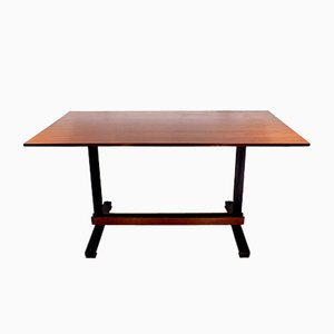 Italienischer Tisch aus Holz und Eisen, 1950er