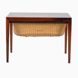 Tavolo da cucito vintage in teak di Severin Hansen, Danimarca