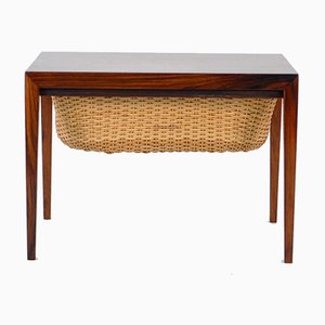 Vintage Danish Teak Sewing Table by Severin Hansen