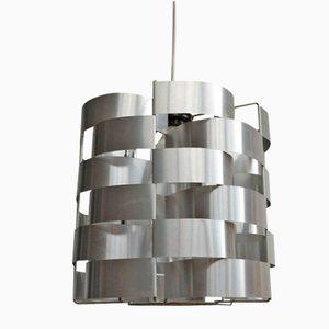 Lampe à Suspension Space Age Cylindrique par Max Sauze, 1970s