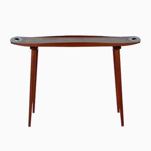 Dänischer vintage Teak Tisch mit Tabletts von Harald Quistgaard