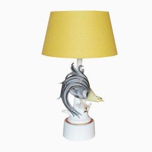 Lámpara de mesa de cerámica de Gerold Porzellan, años 50
