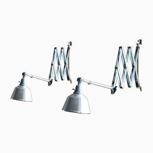 Lámparas de acordeón vintage de Midgard. Juego de 2