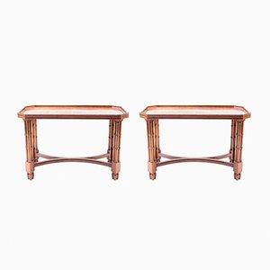Tables d'Appoint en Acajou Verni, 1960s, Set de 2