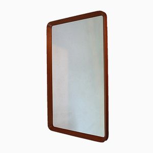 Vintage Wall Mirror in Teak by Pedersen & Hansen Viby J.