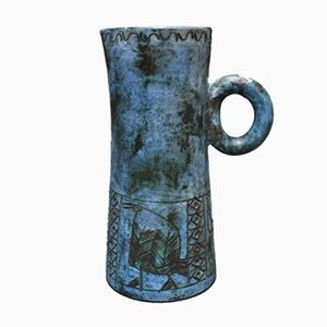 French Ceramic Pitcher by Jacques Blin, 1950s