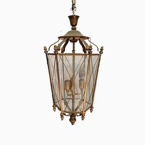 Mid-Century Brass & Glass Lantern, 1960s
