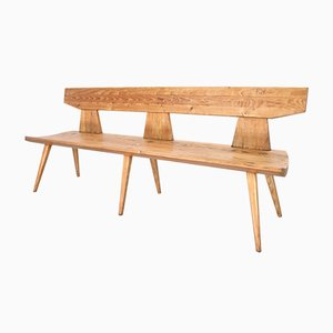 Vintage Pine Bench by Jacob Kielland Brandt for I. Christiansen