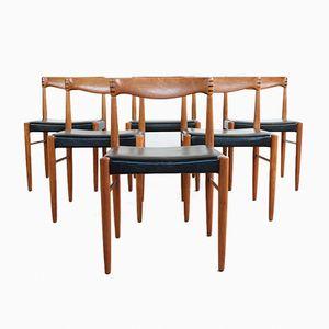 Vintage Teak & Skai Chairs by HW Klein for Bramin, Set of 6