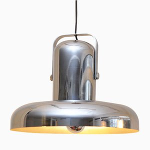 Tilted Chrome Pendant Lamp from Peill & Putzler, 1970s