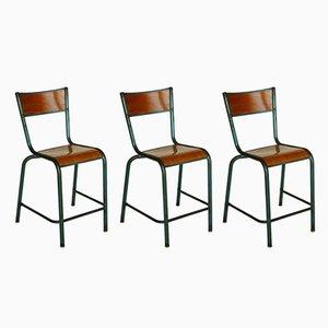 Industrielle vintage Stühle, 3er Set