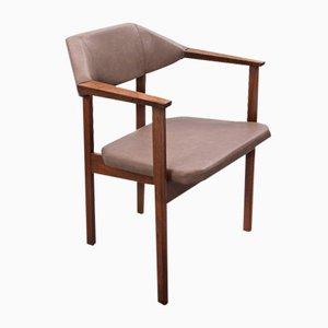 Silla auxiliar estilo Art Déco vintage de cuero sintético de Hulmefa