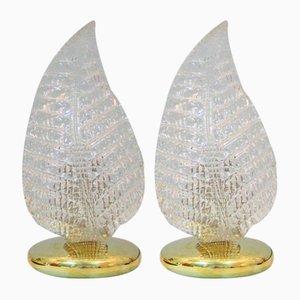 Lampade da tavolo vintage in vetro di Murano, set di 2