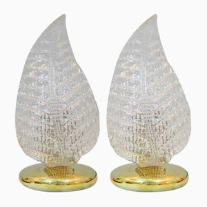 Vintage Italian Murano Glass Table Lamps, Set of 2