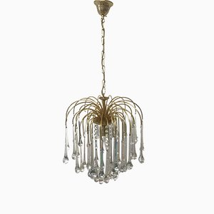 Mid-Century Italian Murano Glass Waterfall Ceiling Lamp