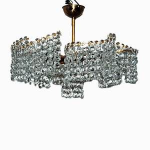 Crystal Chandelier with Swarovski Crystals, 1950s