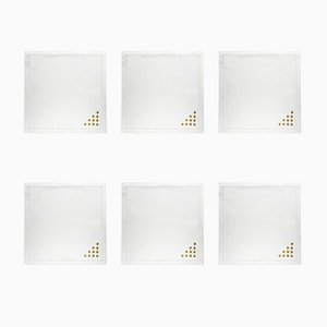 Pois Silver Napkins by The NapKing for Bellavia Ricami SPA, Set of 6
