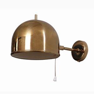 Lámpara de pared de latón de Bergboms, años 60