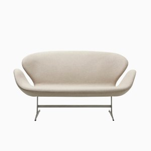 Mid-Century Early Edition Swan Sofa by Arne Jacobsen for Fritz Hansen
