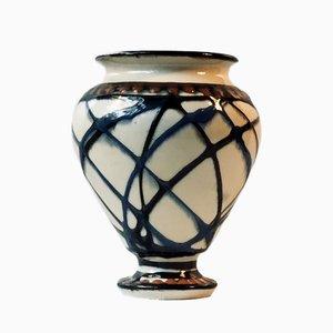 Vaso Art Deco in ceramica di Herman August Kahler, Danimarca, anni '20