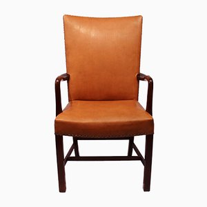 Cognac Leather Armchair from Fritz Hansen, 1944