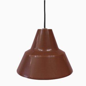 Lámpara colgante industrial en marrón de Louis Poulsen, años 60