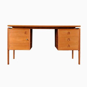 Danish Teak Desk by Arne Vodder for G.V Møbler, 1960s