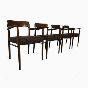 Eichenholz Modell 56 Stühle von Niels O. Möller für J.L. Møllers, 4er Set