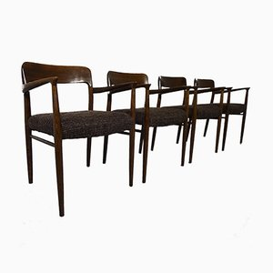 Oak Model 56 Chairs by Niels O. Möller for J.L. Møllers, Set of 4