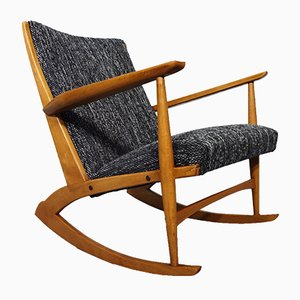 Danish Birch Rocking Chair by Holger Georg Jensen, 1958