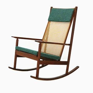Vintage Model 532 Teak Rocking Chair by Hans Olsen for Juul Kristensen