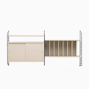 Schwedisches modulares Regal von Nisse Strinning für String, 1950er
