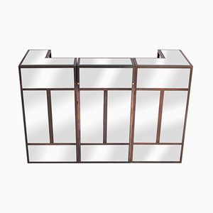 Mirrored Brass Bar from Maison Jansen, 1980s
