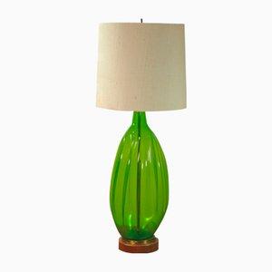 Lampada da tavolo grande vintage in vetro soffiato di Blenko
