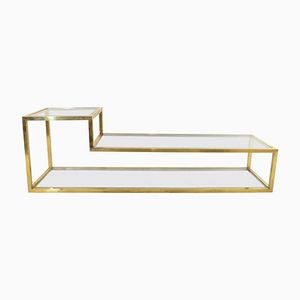 Vintage Italian Brass Coffee Table