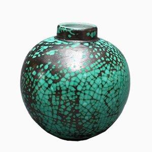 French Round Ceramic Vase by Primavera for C. A. B., 1930s