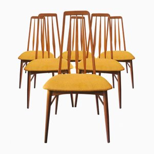 Eva Dining Chairs by Niels Koefoed for Hornslet Møbelfabrik, 1960s, Set of 6