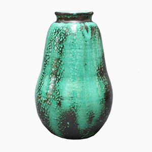 French Pear-Shaped Ceramic Vase by Primavera for C. A. B., 1930s