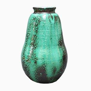 Jarrón francés en forma de pera de cerámica de Primavera para C. A. B., años 30
